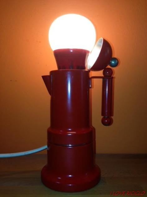 lampada caffettiera